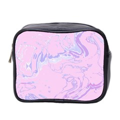 Unique Marbled 2 Baby Pink Mini Toiletries Bag 2 Side by MoreColorsinLife