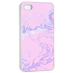 Unique Marbled 2 Baby Pink Apple Iphone 4/4s Seamless Case (white)