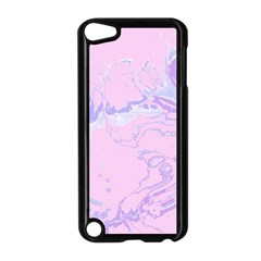 Unique Marbled 2 Baby Pink Apple Ipod Touch 5 Case (black) by MoreColorsinLife