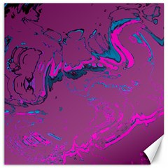 Unique Marbled 2 Hot Pink Canvas 20  X 20   by MoreColorsinLife