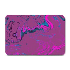 Unique Marbled 2 Hot Pink Small Doormat  by MoreColorsinLife