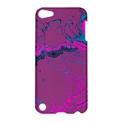 Unique Marbled 2 Hot Pink Apple Ipod Touch 5 Hardshell Case by MoreColorsinLife