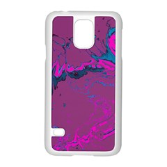 Unique Marbled 2 Hot Pink Samsung Galaxy S5 Case (white) by MoreColorsinLife
