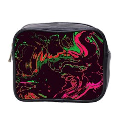 Unique Marbled 2 Tropic Mini Toiletries Bag 2 Side by MoreColorsinLife