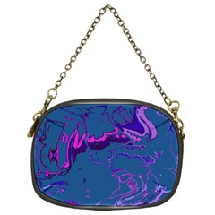 Unique Marbled 2 Blue Chain Purses (two Sides)  by MoreColorsinLife