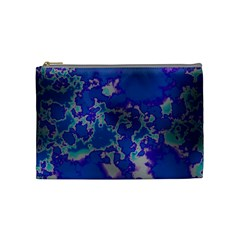 Unique Marbled Blue Cosmetic Bag (medium)  by MoreColorsinLife