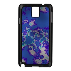 Unique Marbled Blue Samsung Galaxy Note 3 N9005 Case (black) by MoreColorsinLife
