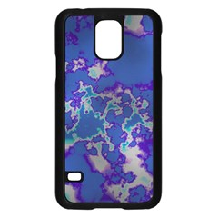 Unique Marbled Blue Samsung Galaxy S5 Case (black) by MoreColorsinLife