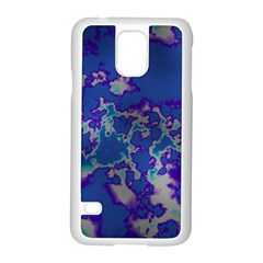 Unique Marbled Blue Samsung Galaxy S5 Case (white) by MoreColorsinLife