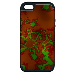 Unique Marbled Hot Apple Iphone 5 Hardshell Case (pc+silicone) by MoreColorsinLife