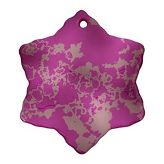 Unique Marbled Pink Snowflake Ornament (2 Side) by MoreColorsinLife