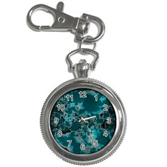 Unique Marbled Teal Key Chain Watches by MoreColorsinLife