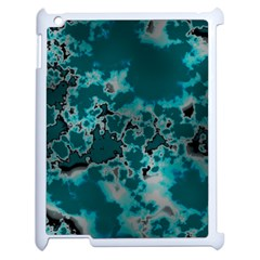 Unique Marbled Teal Apple Ipad 2 Case (white) by MoreColorsinLife