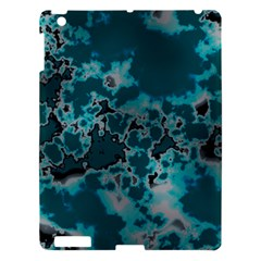 Unique Marbled Teal Apple Ipad 3/4 Hardshell Case by MoreColorsinLife