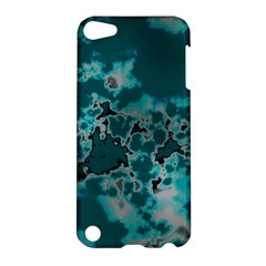 Unique Marbled Teal Apple Ipod Touch 5 Hardshell Case by MoreColorsinLife