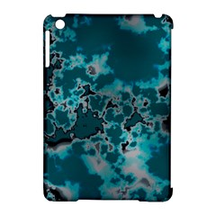 Unique Marbled Teal Apple Ipad Mini Hardshell Case (compatible With Smart Cover)