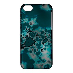 Unique Marbled Teal Apple Iphone 5c Hardshell Case by MoreColorsinLife