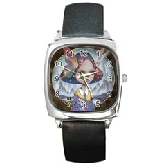 World Peace Square Metal Watches by YOSUKE