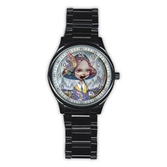 World Peace Stainless Steel Round Watches by YOSUKE