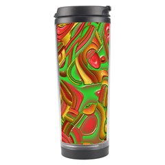 Art Deco Red Green Travel Tumblers by MoreColorsinLife