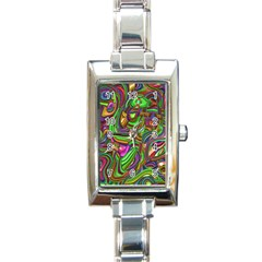 Art Deco Rectangle Italian Charm Watches by MoreColorsinLife