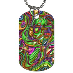 Art Deco Dog Tag (two Sides) by MoreColorsinLife
