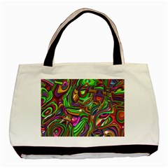 Art Deco Basic Tote Bag (two Sides)  by MoreColorsinLife