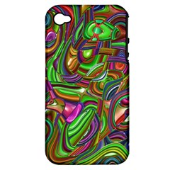 Art Deco Apple Iphone 4/4s Hardshell Case (pc+silicone) by MoreColorsinLife