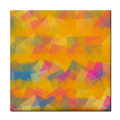 Fading Squares Tile Coaster by LalyLauraFLM
