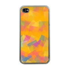 Fading Squares Apple Iphone 4 Case (clear) by LalyLauraFLM