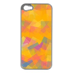 Fading Squares Apple Iphone 5 Case (silver) by LalyLauraFLM