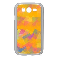 Fading Squares Samsung Galaxy Grand Duos I9082 Case (white)