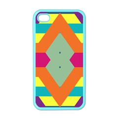 Colorful Rhombus And Stripes Apple Iphone 4 Case (color) by LalyLauraFLM