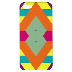 Colorful Rhombus And Stripes Apple Iphone 5 Hardshell Case by LalyLauraFLM