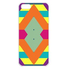 Colorful Rhombus And Stripes Apple Iphone 5 Seamless Case (white) by LalyLauraFLM