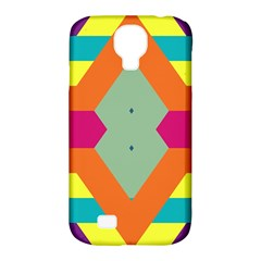 Colorful Rhombus And Stripes Samsung Galaxy S4 Classic Hardshell Case (pc+silicone) by LalyLauraFLM