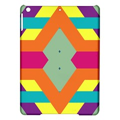 Colorful Rhombus And Stripes Apple Ipad Air Hardshell Case by LalyLauraFLM