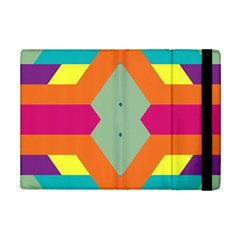 Colorful Rhombus And Stripes	apple Ipad Mini 2 Flip Case by LalyLauraFLM