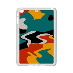 Misc Shapes In Retro Colors Apple Ipad Mini 2 Case (white) by LalyLauraFLM