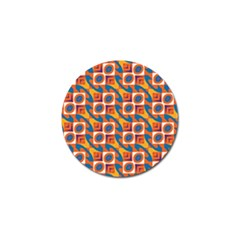 Squares And Other Shapes Pattern Golf Ball Marker (4 Pack) by LalyLauraFLM