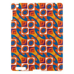 Squares And Other Shapes Pattern Apple Ipad 3/4 Hardshell Case by LalyLauraFLM