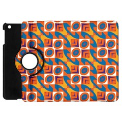 Squares And Other Shapes Pattern Apple Ipad Mini Flip 360 Case by LalyLauraFLM