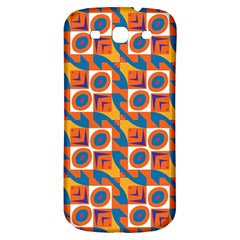 Squares And Other Shapes Pattern Samsung Galaxy S3 S Iii Classic Hardshell Back Case by LalyLauraFLM