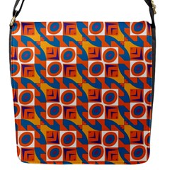 Squares And Other Shapes Pattern Flap Closure Messenger Bag (s) by LalyLauraFLM