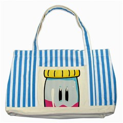 Purp Baby Bottle Striped Blue Tote Bag  by stoner