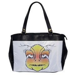 Angry Monster Portrait Drawing Office Handbags by dflcprints