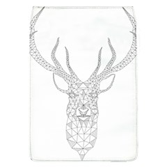Modern Geometric Christmas Deer Illustration Flap Covers (l)  by Dushan