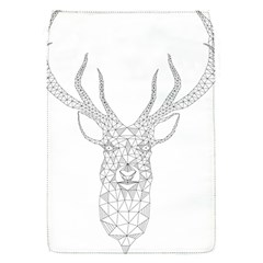 Modern Geometric Christmas Deer Illustration Flap Covers (s)  by Dushan
