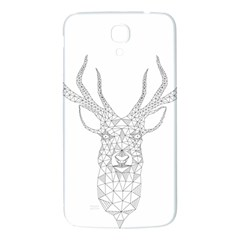 Modern Geometric Christmas Deer Illustration Samsung Galaxy Mega I9200 Hardshell Back Case by Dushan