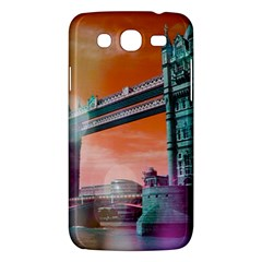 London Tower Bridge, Bokeh Orange Samsung Galaxy Mega 5 8 I9152 Hardshell Case  by MoreColorsinLife
